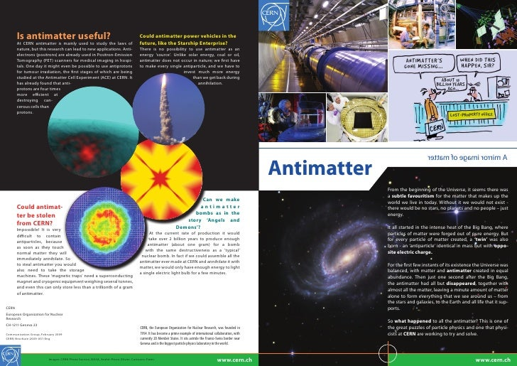 ANTIMATTER'S                WHEN DID THIS                      GONE MISSING...…             HAPPEN, SIR?                  ...
