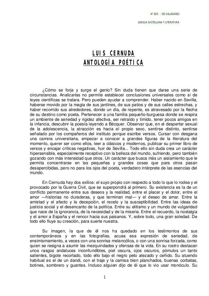Antología poética de Luis Cernuda