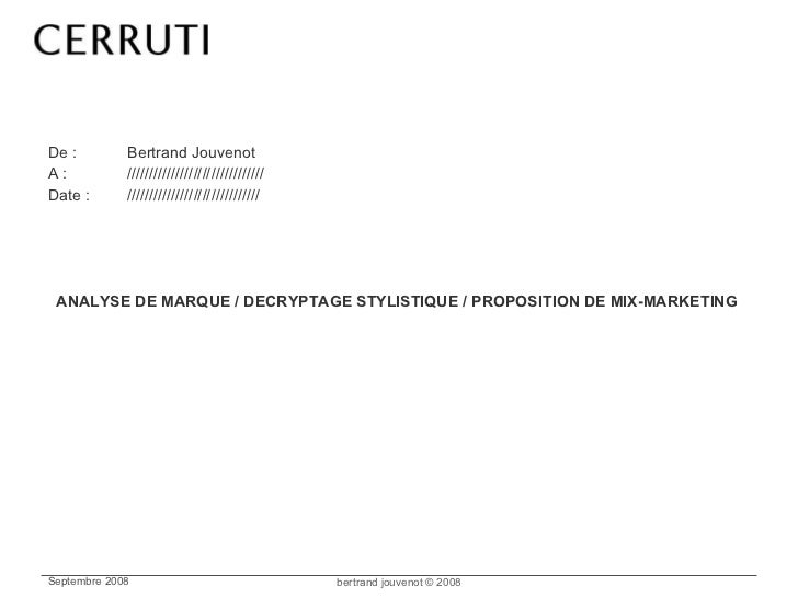 <ul><li>De : Bertrand Jouvenot </li></ul><ul><li>A : /////////////////////////////// </li></ul><ul><li>Date : ////////////...