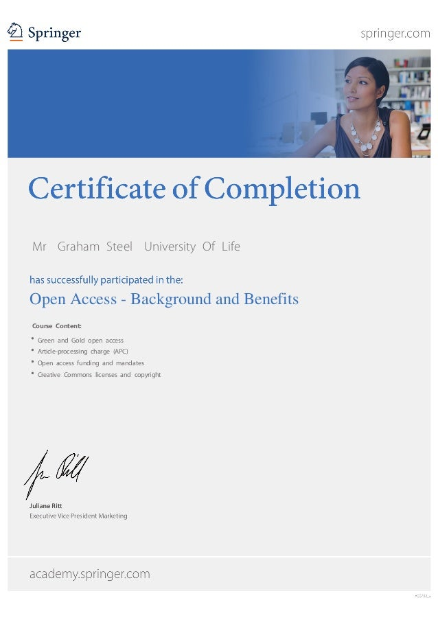 MrGraham SteelUniversity Of Life  Open Access - Background and Benefits Course Content: Green and Gold open access...