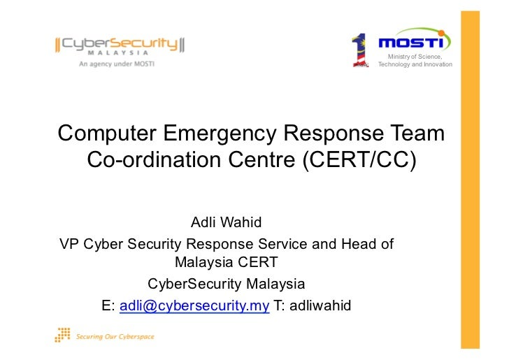 Ministry of Science,                                           Technology and InnovationComputer Emergency Response Team  ...