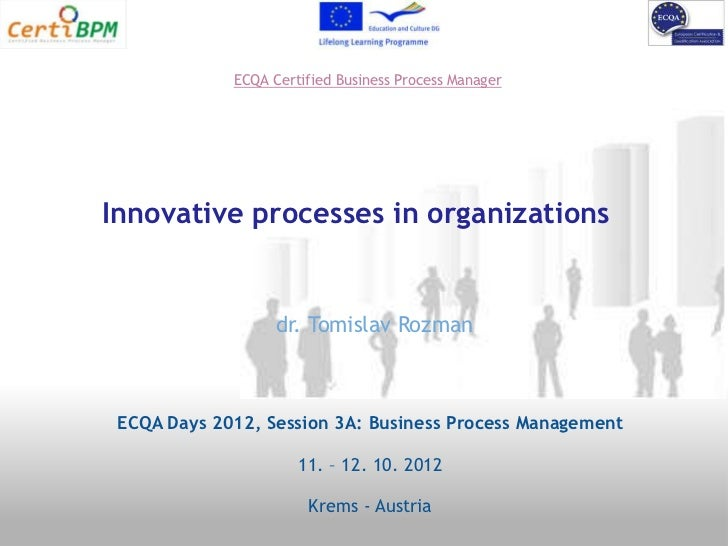 ECQA Certified Business Process ManagerInnovative processes in organizations                   dr. Tomislav Rozman ECQA Da...