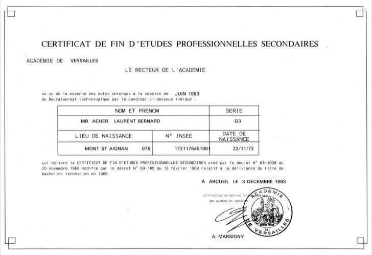 certificat de fin d'études secondaires