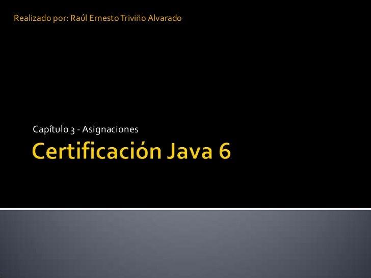 Certificación java 6 cap 3