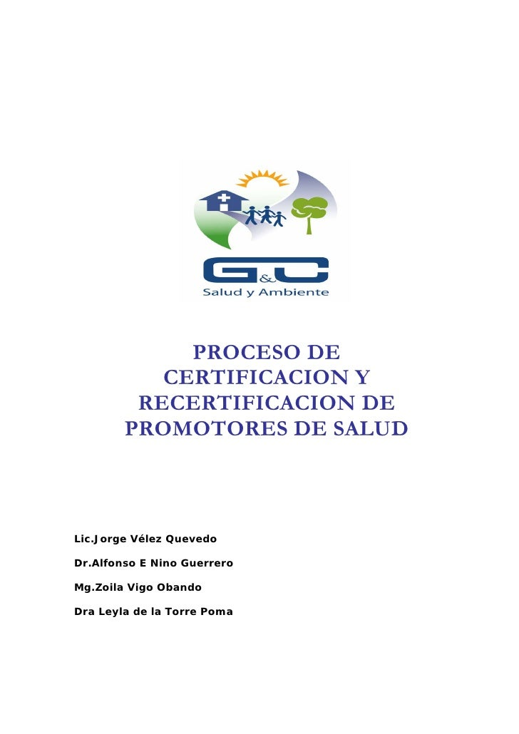 Guia certificacion de promotores de salud