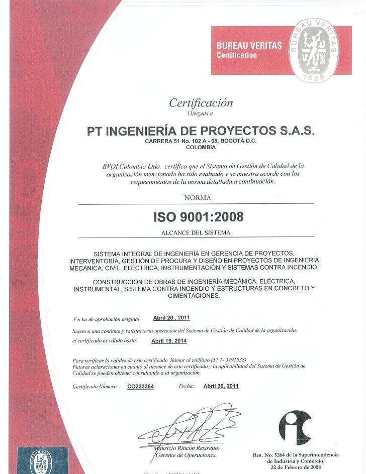 Certificacion iso9001