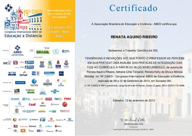 Certificado apresentacao artigo tendencias tecnologias na educacao