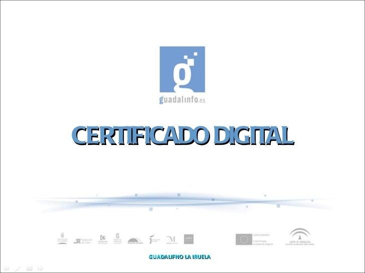 Tutorial sobre Certificado Digital