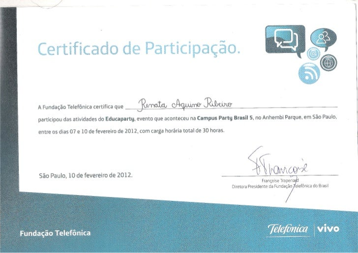 Certificado educaparty 2012