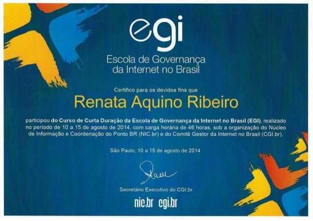Certificado escola de governanca de internet no brasil cgi