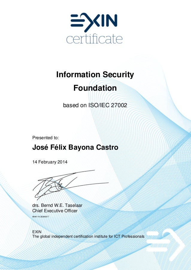 iso certificado: