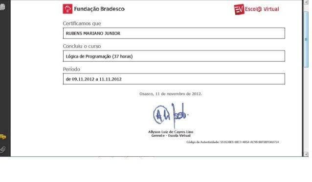 Certificado   LóGica De ProgramaçãO
