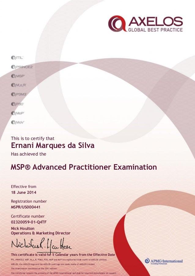 Certificado msp advanced_practitioner_ernani_marques