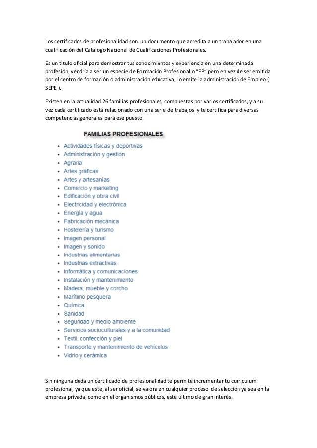 Certificados de profesionalidad barcelona
