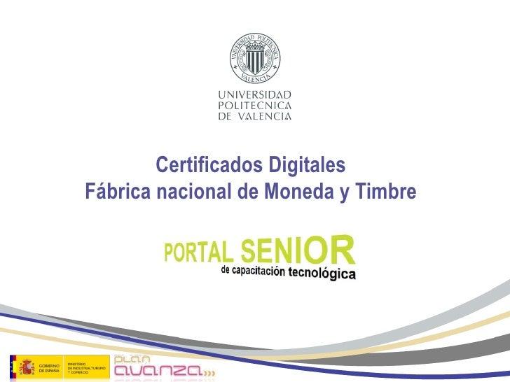 Certificados digitales fnmt