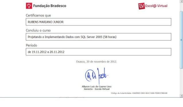 Certificado   Sql Server 2005   Projetando E Implementando Dados