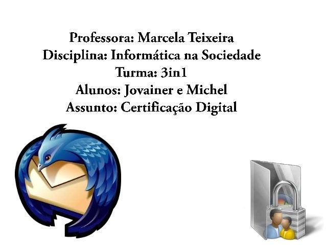 O que é certificação digital?