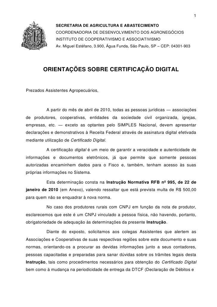 1                  SECRETARIA DE AGRICULTURA E ABASTECIMENTO                 COORDENADORIA DE DESENVOLVIMENTO DOS AGRONEGÓ...