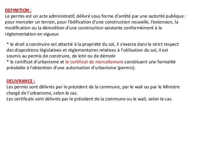 Certificat de morcellement - Acte de propriete definition ...