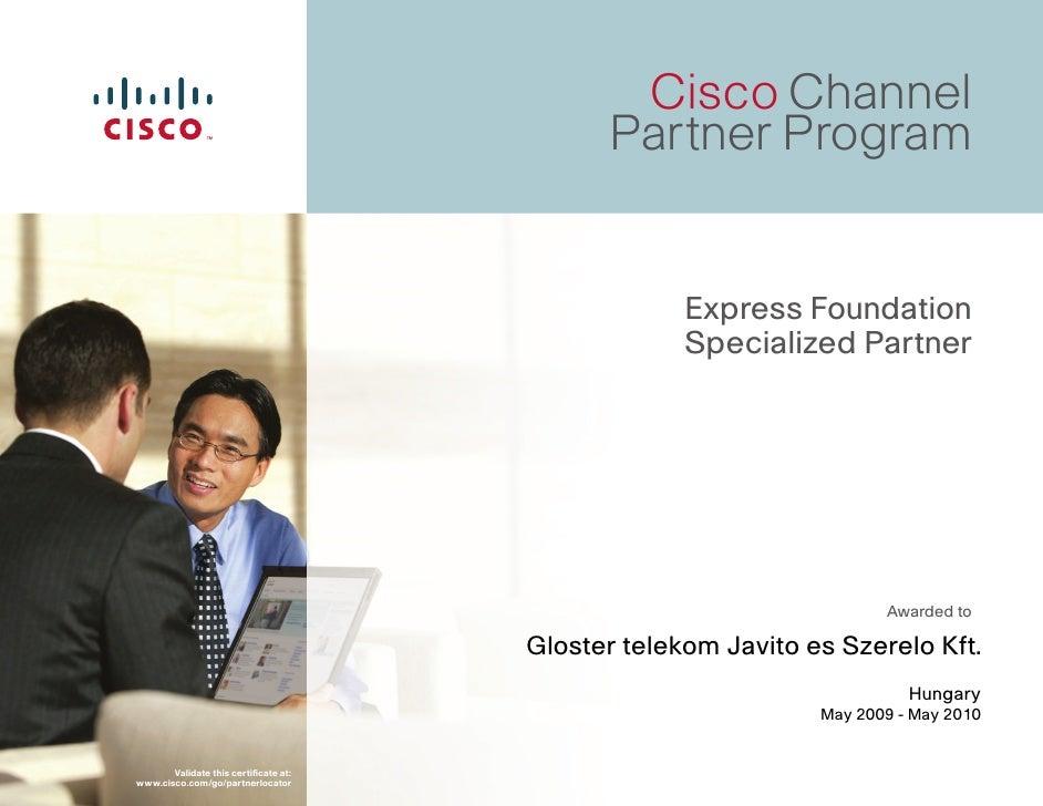 Cisco Channel                                              Partner Program                                                ...