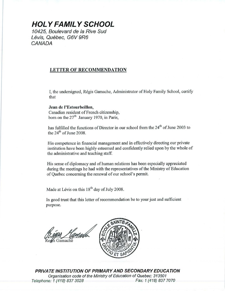 certificate of fr  d