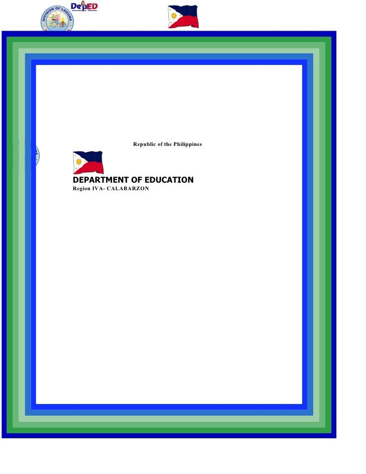 Republic of the Philippines     DEPARTMENT OF EDUCATION Region IVA- CALABARZON
