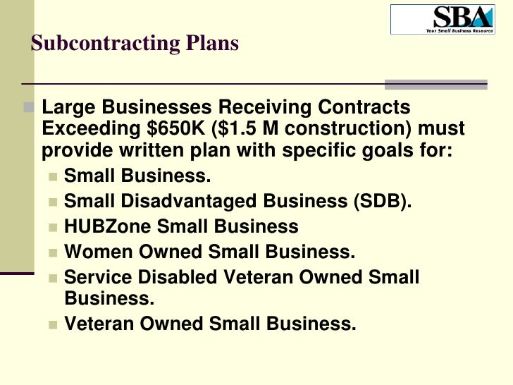 Subcontracting Plan Wizard
