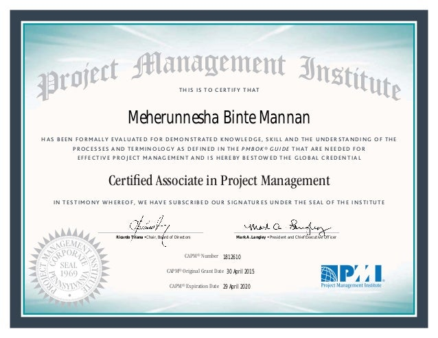 certified associate in project management Benefits of certified associate in project management (camp) certification including globally recognized professional certification, expand your career opportunities and more.