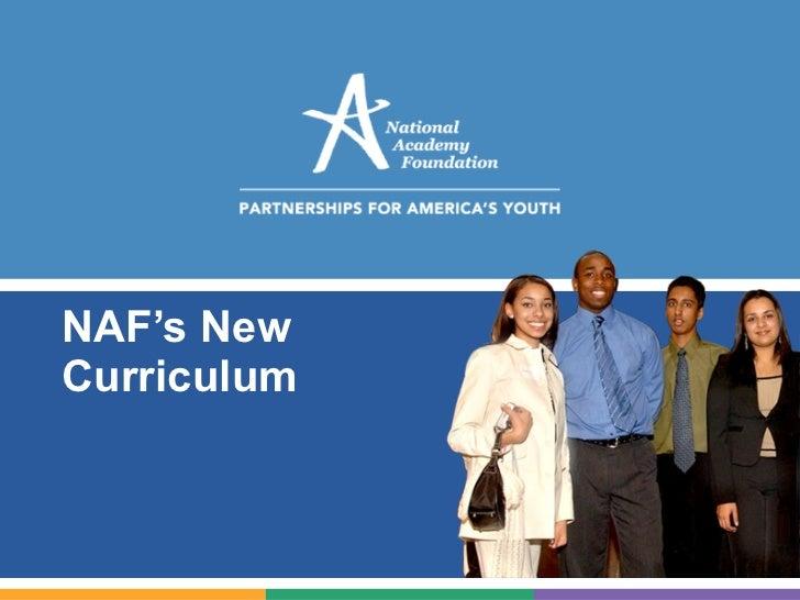 NAF's New Curriculum