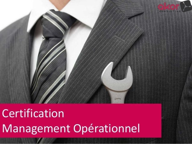 Certification Management Opérationnel