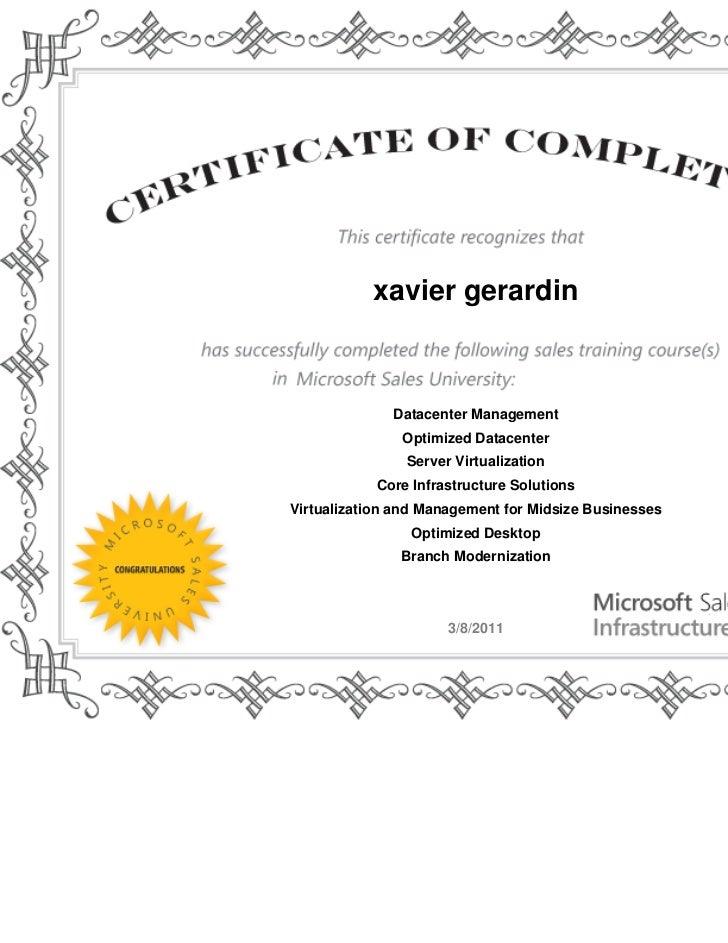 Certification microsoft sales marketing