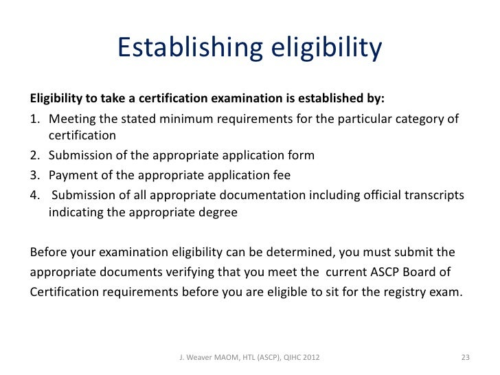 ASCP Certification Requirements and Information - induced.info