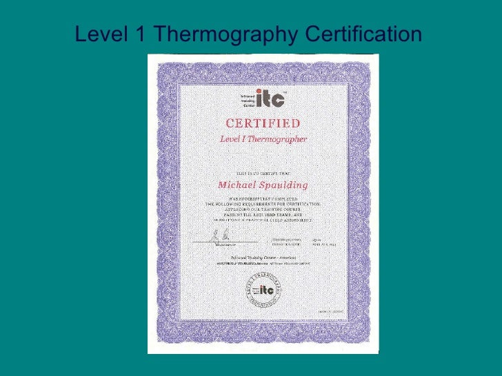 Level 1 Thermography Certification