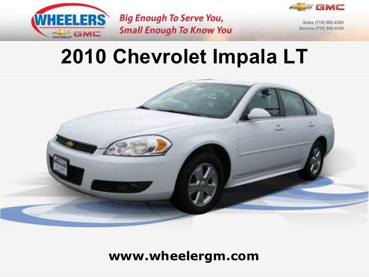 Certified 2010 Chevrolet Impala LT - Wheelers of Marshfield Chevrolet Dealer
