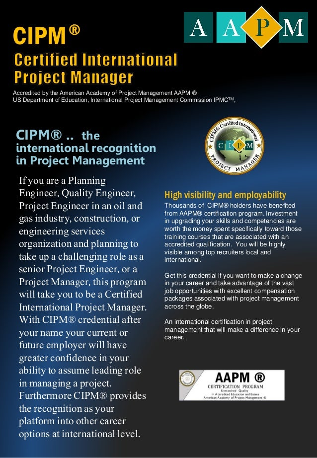Certified International Project Manager CIPM