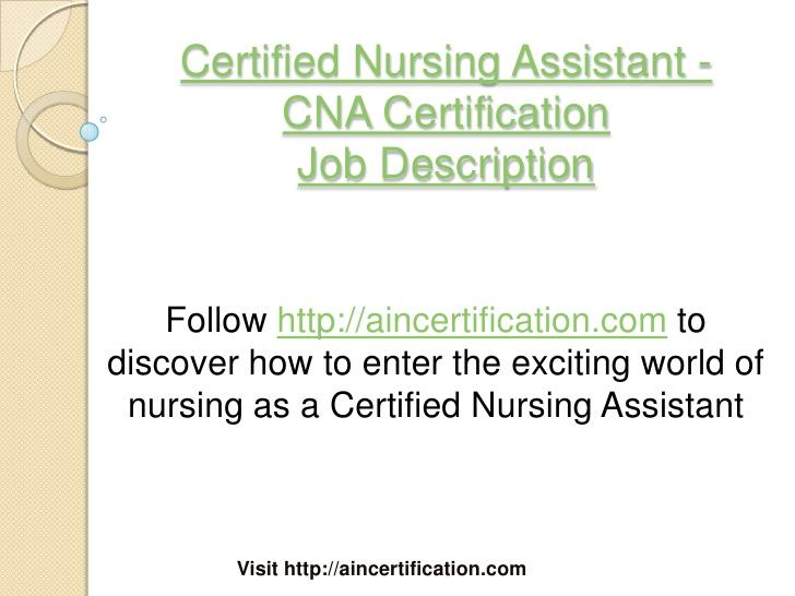 Nursing Home Administrator Certification