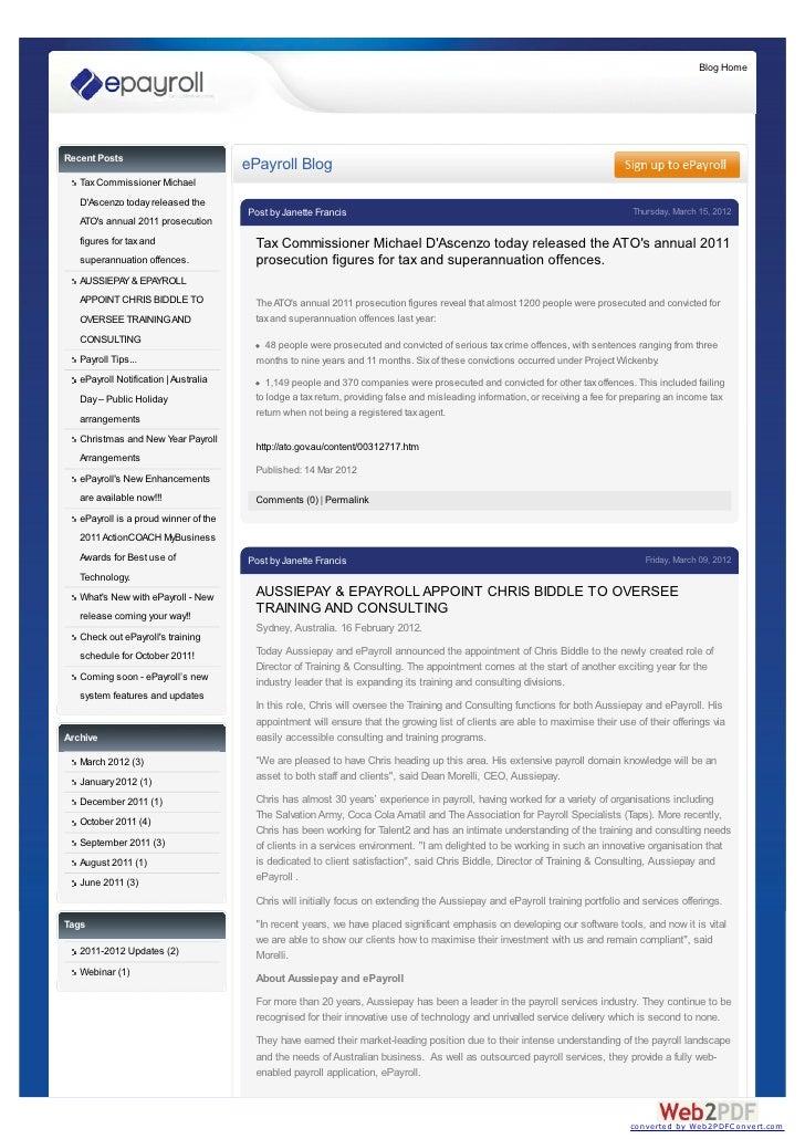 Blog HomeRecent Posts                                       ePayroll Blog   Tax Commissioner Michael   DAscenzo today rele...