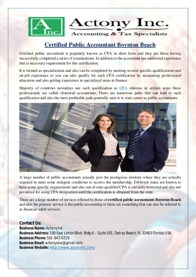 certified public accountant and federal reporting