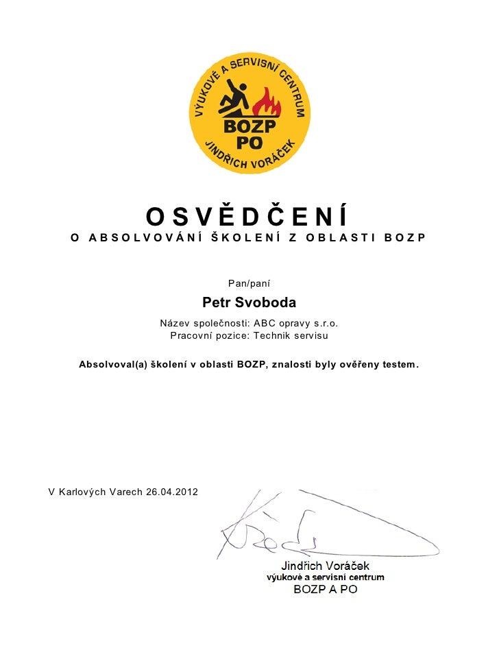 Certifikat bozp elearning video kurz ukázka ze služeb www.webinare.cz