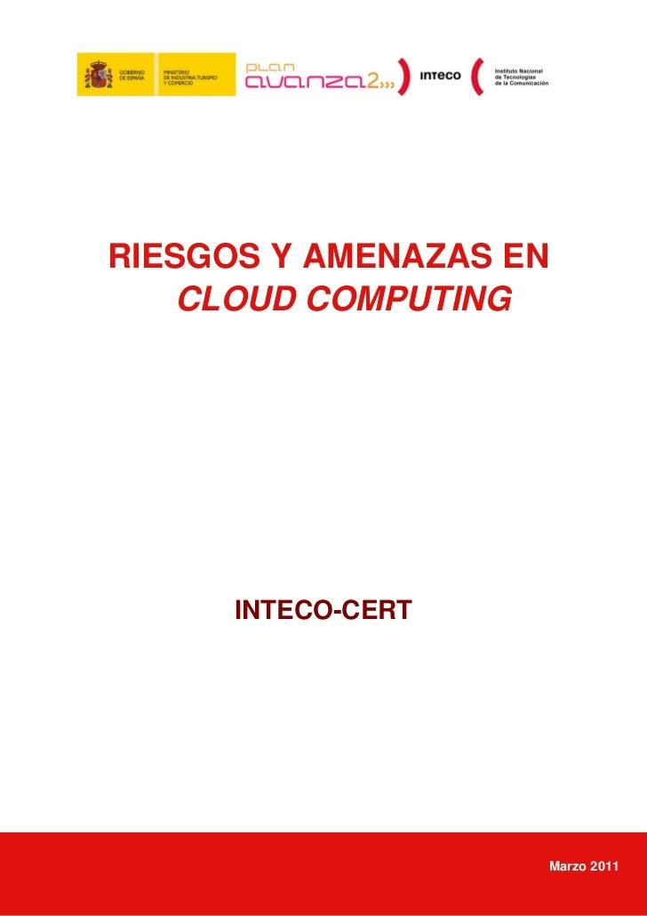 Informe Riesgos y amenazas en cloud computing. INTECTO-CERT