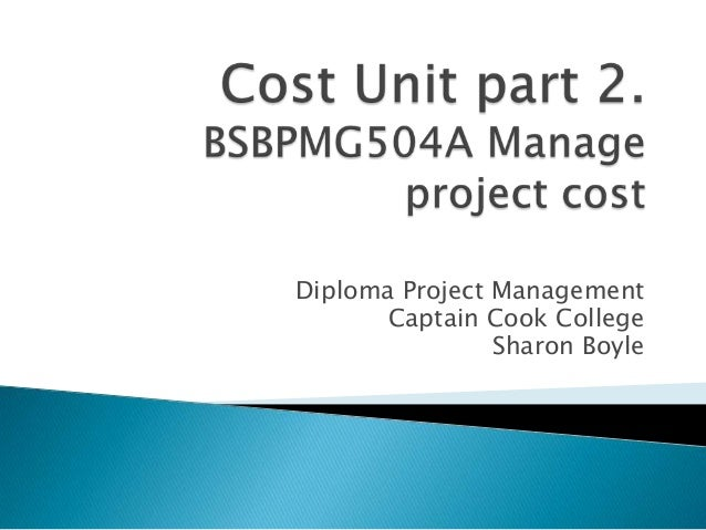Cert iv  cost part 2