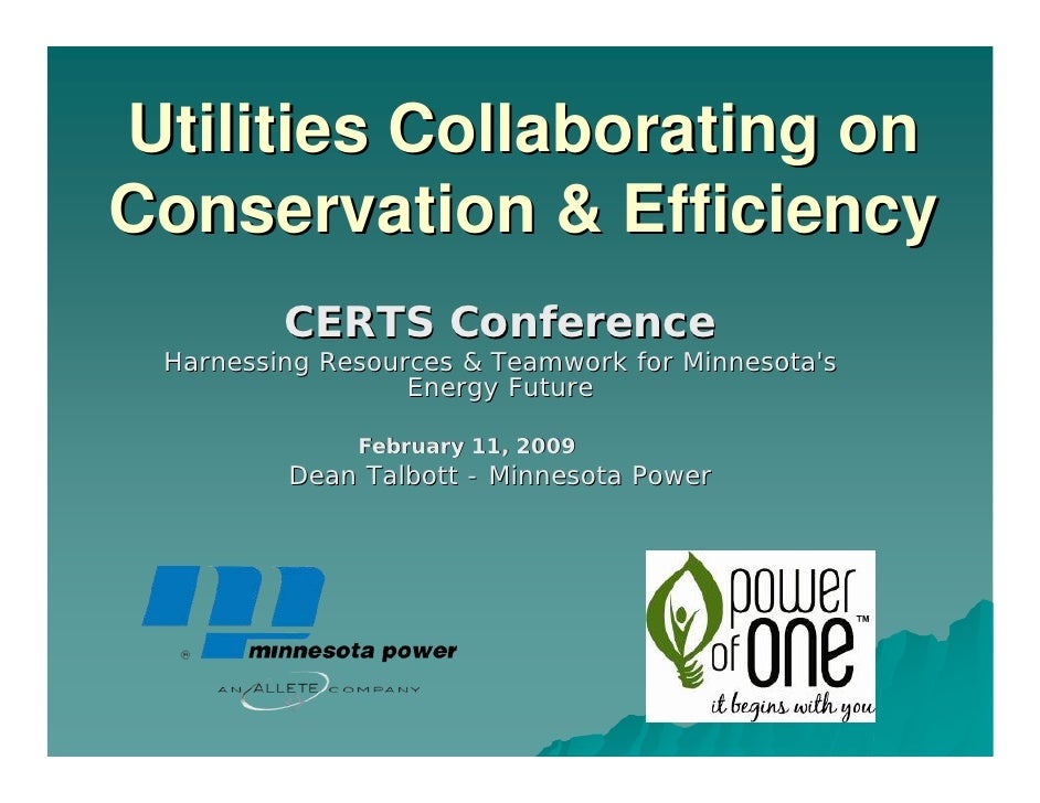 Utilities Collaborating on Conservation & Efficiency