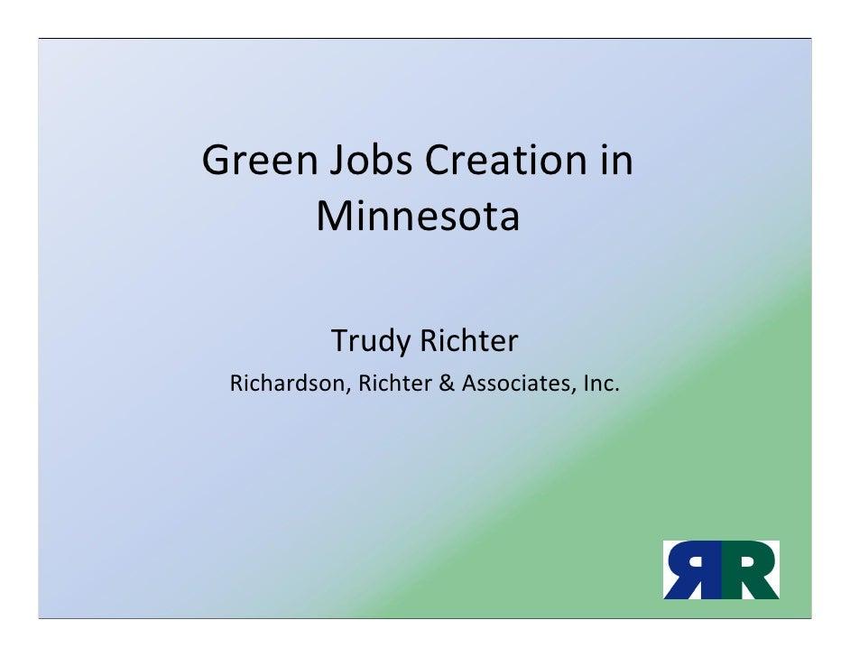 Green Jobs Creation in Minnesota