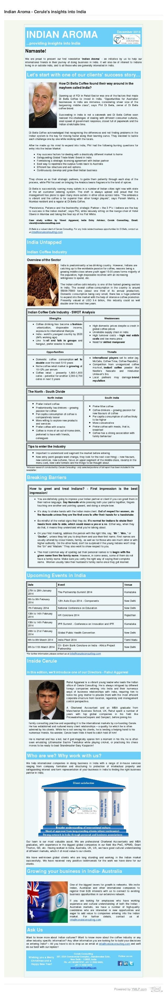 Cerule Newsletter December 2013