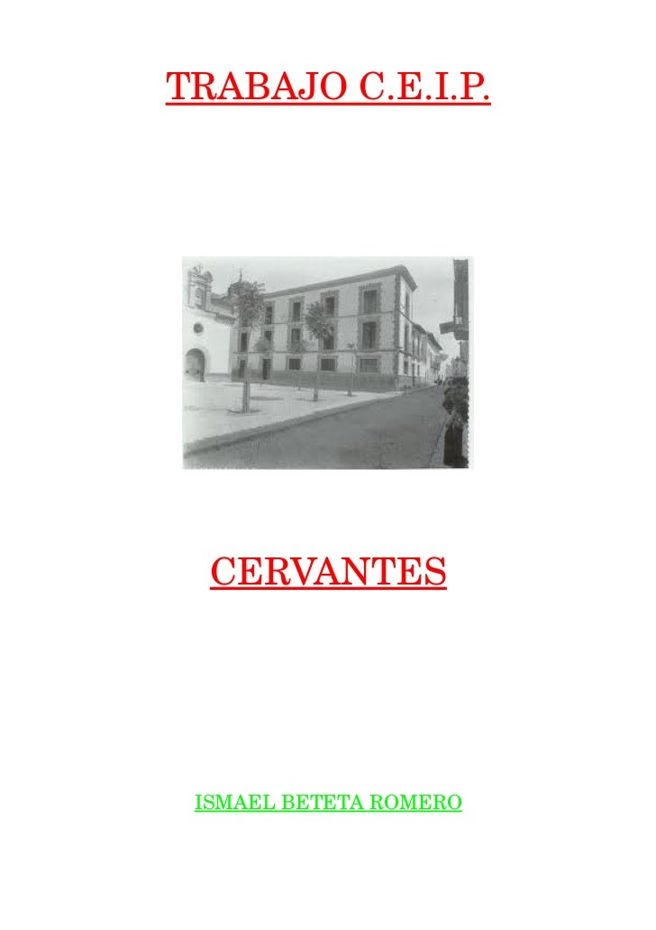 TRABAJOC.E.I.P.  CERVANTES ISMAELBETETAROMERO