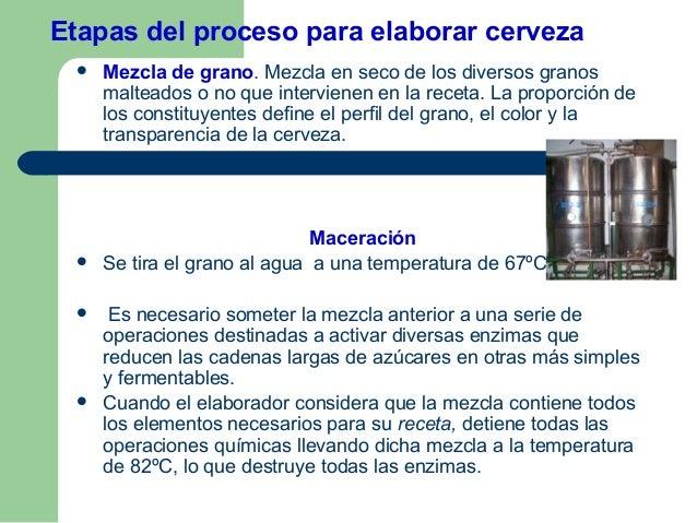 Cerveza Artesanal 4) Proceso de elaboraci n