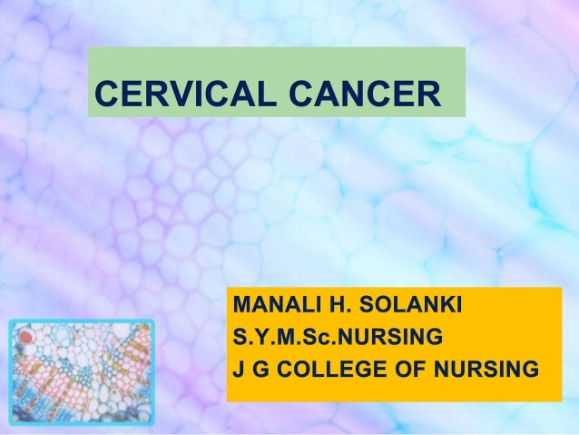 • Cervical cancer is the third most  common cancer in women worldwide.  Cervical cancer is a disease that  develops quite ...