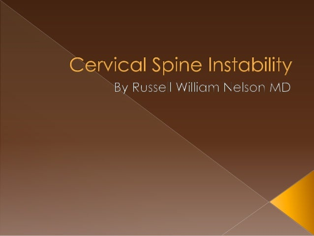 Cervical Spine Instability