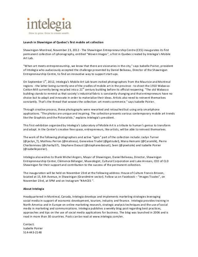 LaunchinShawiniganofQuebec'sfirstmobileartcollectionShawinigan‐Montreal,November23,2012‐TheShawiniganEn...