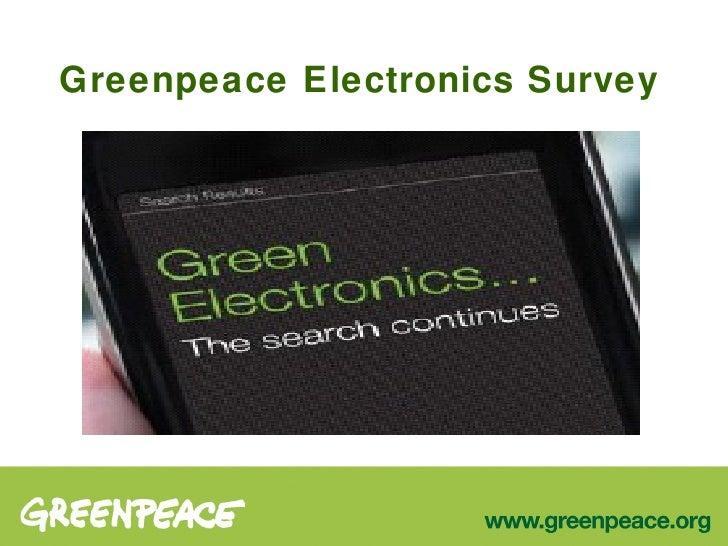 Greenpeace Electronics Survey